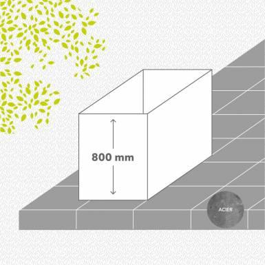 carre-potager-sans-fond-acier-galvanise-peint-hauteur-800 mm-rectangle-Les-Serruriers-du-Paysage