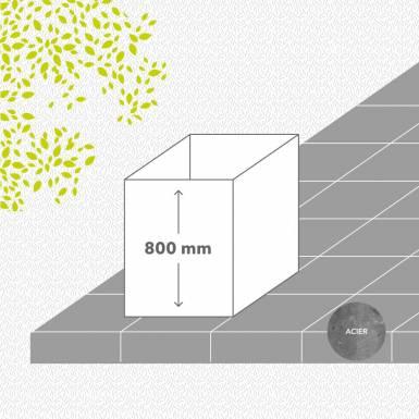 carre-potager-sans-fond-acier-galvanise-peint-hauteur-800 mm-carre-Les-Serruriers-du-Paysage