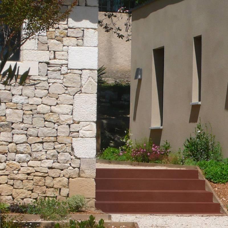 escalier-exterieur-corten-active-2 M-Les Serruriers-du-Paysage