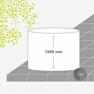 bac-de-jardin-sans-fond-acier-galvanise-peint-hauteur-1000 mm-rond-Les-Serruriers-du-Paysage