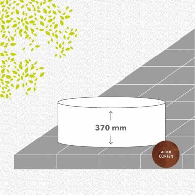 bac-de-jardin-soude-corten-brut-hauteur-370 mm-rond-Les-Serruriers-du-Paysage