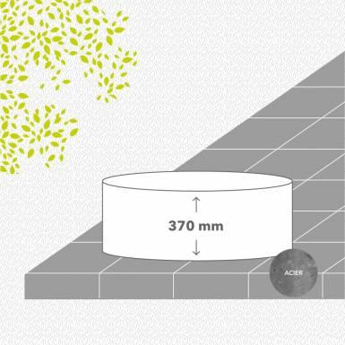 bac-de-jardin-sans-fond-acier-galvanise-peint-hauteur-370 mm-rond-Les-Serruriers-du-Paysage