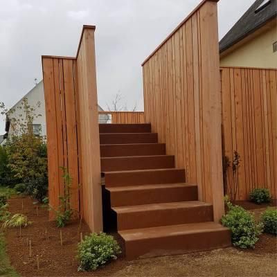 escalier exterieur corten